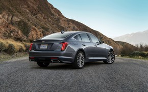 Picture grey, Cadillac, sedan, ass, four-door, 2020, CT5