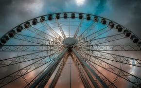 Picture the sky, wheel, amusement