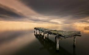 Picture sea, bridge, nature