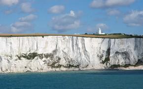 Picture lighthouse, England, Белые Скалы Дувра