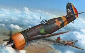 Picture Romanian fighter, AND 80A, the all-metal monoplane, The first serial fighter of the Romanian design