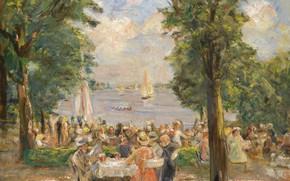 Picture picture, 1933, genre, Max Liebermann, Beergarden on Lake Wannsee, Max Liebermann
