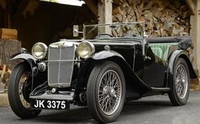 Picture Retro, Classic, Sports car, Sportcar, Vintage car, MG L1 Magna