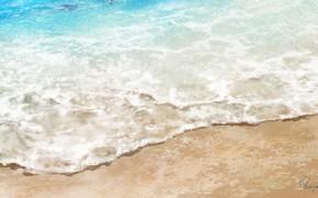 Picture sea, wave, beach