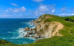 Picture landscape, nature, coast