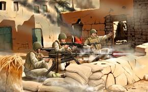 Picture Machine gun, Soldiers, AK-74, The Soviet Army, Utes, Heavy, NSV-12.7