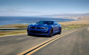 Picture coast, speed, Chevrolet, Camaro, Camaro SS, 2019