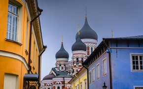 Picture building, home, Estonia, Tallinn, Church, temple, Alexander Nevsky Cathedral