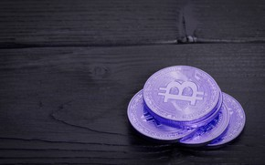 Picture blur, black, purple, table, boards, bitcoin, bitcoin