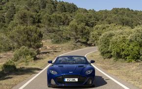 Picture Aston Martin, DBS, Tree, Road, Superleggera, Car, Volante, 2019, Aston Martin DBS Superleggera Volante