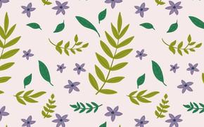 Picture leaves, pattern, Spring, Leaves, vintage