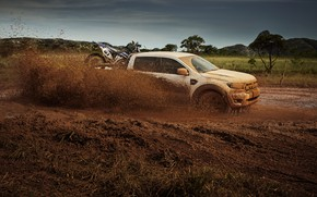 Picture squirt, earth, Ford, dirt, in motion, pickup, Storm, Ranger, 2020