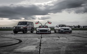 Wallpaper BMW, Light, Mercedes, SLS, G-Class, F80, Sight, LED