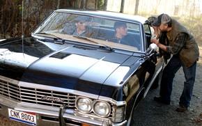 Picture the series, Dean, Supernatural, Supernatural, Sam, Jared Padalecki, Jensen Ackles, Jim Beaver, Bobby
