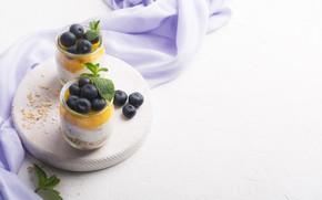 Picture berries, Breakfast, mango, muesli, yogurt, Vadim Zakirov
