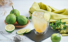 Picture ice, lime, lemonade