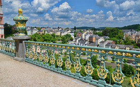 Picture clouds, view, building, home, Germany, Germany, Weilburg Castle, Walborsky Palace, Because castle, Weilburg