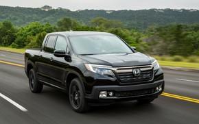 Picture asphalt, black, Honda, pickup, Black Edition, Ridgeline, 2019