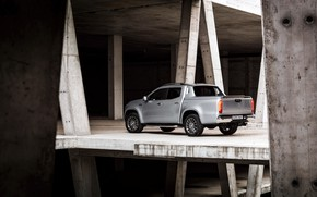 Picture Mercedes-Benz, concrete, pickup, design, 2018, X-Class, gray-silver