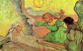 Picture Vincent van Gogh, The Raising, of Lazarus after Rembrandt