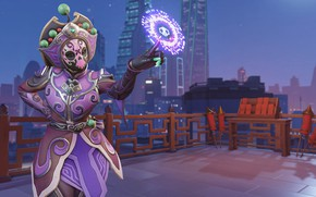 Picture mask, costume, Overwatch, Sombra