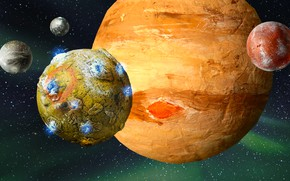 Picture art, planets, sci fi