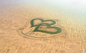 Picture Love, Desert, Dubai, UAE, Romance, The lake of love, Love lakes, Two hearts, Al Qudra