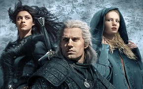 Picture The Witcher, The Witcher, Henry Cavill, Geralt, Cirilla, Freya Allan, Anya Chalotra