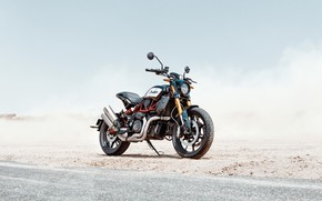 Picture road, desert, indian, motocycle, indian ftr1200