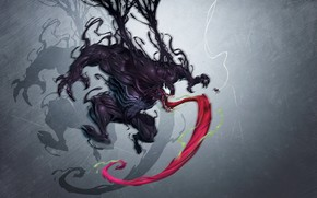 Picture Art, Comics, MARVEL, Venom, Characters, Creatures, Comic Art, Comics Art, Djib, Venom VS spider, by …