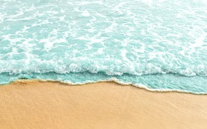 Wallpaper sand, sea, wave, beach, summer, summer, beach, sea, blue, sand, wave