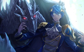 Picture dragon, guy, Vocaloid, Vocaloid, Kaito