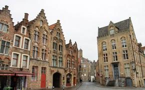 Picture street, home, Belgium, Bruges, Jan van Eyck Square