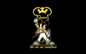 Picture Figure, Background, Rock, Art, Rock, Queen, Mickey Mouse, Mickey Mouse, Mickey, Illustration, Mouse, Freekandele Rodriguez, …