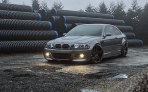Picture Auto, BMW, Machine, Grey, Render, Silver, E46, BMW M3, Pipe, BMW M3 E46, Transport & …