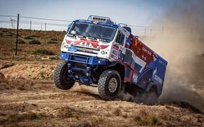 Picture Dust, Machine, Truck, Race, Master, Kamaz, Rally, KAMAZ-master, Rally, KAMAZ, The roads, RedBull, Master, 403, …