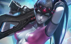 Picture Figure, The game, Blizzard, Art, Art, Sexy, Sniper, Game, Amelie, Illustration, Sakimichan, Character, Characters, Fan …