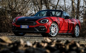 Picture branch, Roadster, spider, Abarth, black and red, 124 Spider, 2019, Rally Tribute