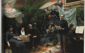 Picture holiday, 1885, abbema's, afternoon song