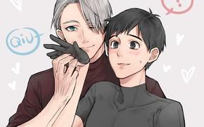 Picture anime, art, guys, Ice, Yuri on the ice, Victor Nikiforov, Yuri Katsuki, Yuri On Ice, …