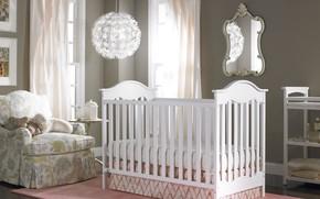 Picture design, interior, cot, children's room