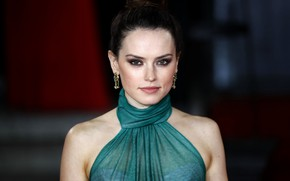 Picture look, pose, makeup, actress, hairstyle, hair, Daisy Ridley, Daisy Ridley