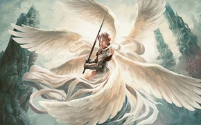 Picture angel, sword, warrior, the Archangel