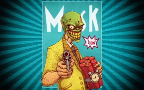 Picture Minimalism, Background, Mask, Art, Helix, Dynamite, by Bogdan Timchenko, Bogdan Timchenko