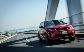 Picture road, speed, Land Rover, JP-spec, L550, 2020, Discovery Sport, D180 SE R-Dynamic