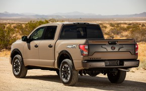 Picture back, Nissan, body, pickup, Titan, 2020, Pro-4X