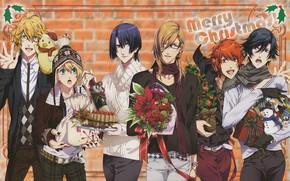Picture flowers, group, guys, singing Prince, Uta no Prince-sama