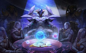Picture table, people, suits, Arena of Valor