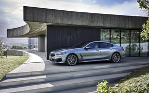 Picture vegetation, coupe, BMW, facade, Gran Coupe, 8-Series, 2019, the four-door coupe, Eight, G16