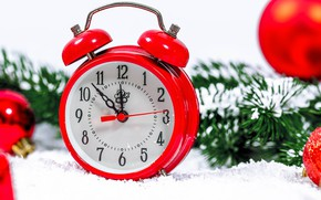 Picture time, alarm clock, new year's eve